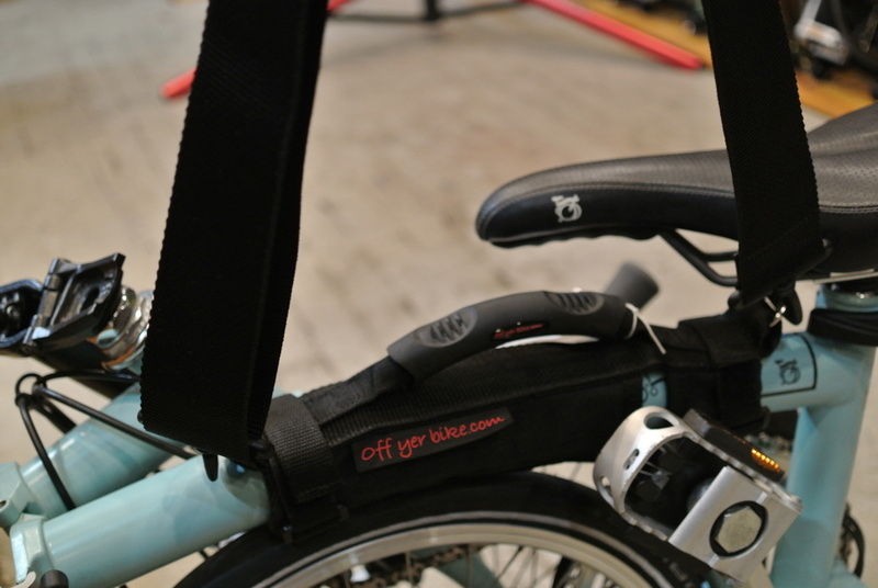 The Original On yer shoulder Brompton carrying handle Set by Off yer bike